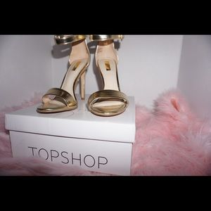 TOP SHOP - Gold Heels
